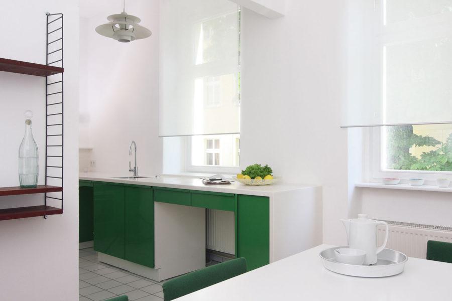 Inneneinrichtung Fotograf Interieur grüne Küche